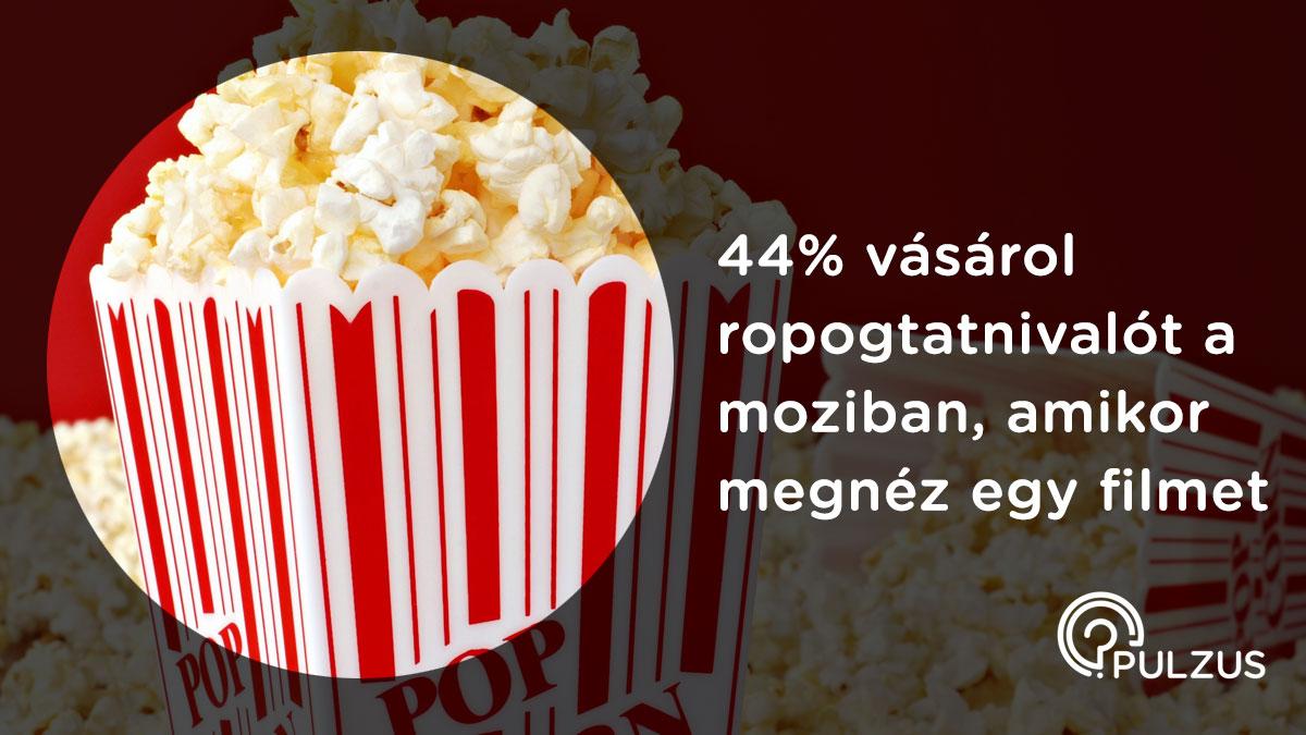 Pulzus kutatás - ropogtatnivalüó a moziban