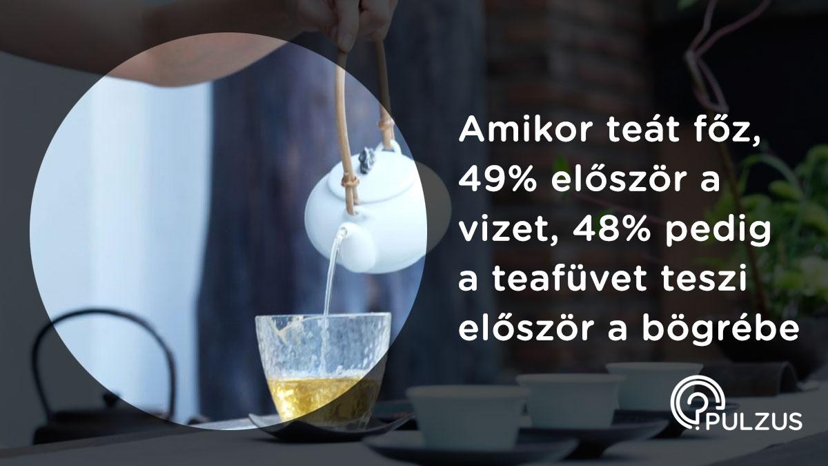 Pulzus kutatás - teafőzés