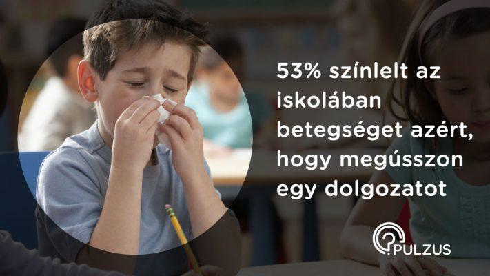 Pulzus kutatás - Betegséget színlelni az iskolában