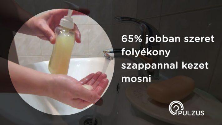 Pulzus kutatás - kézmosás folyékony szappannal