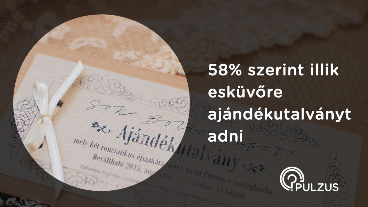 Ajándékutalvány esküvőre - Pulzus kutatás