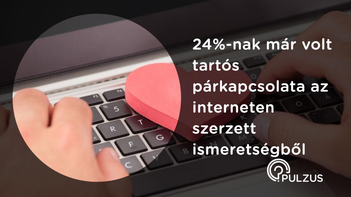 Tartós párkapcsolat az interneten szerzett ismeretségből - Pulzus kutatás