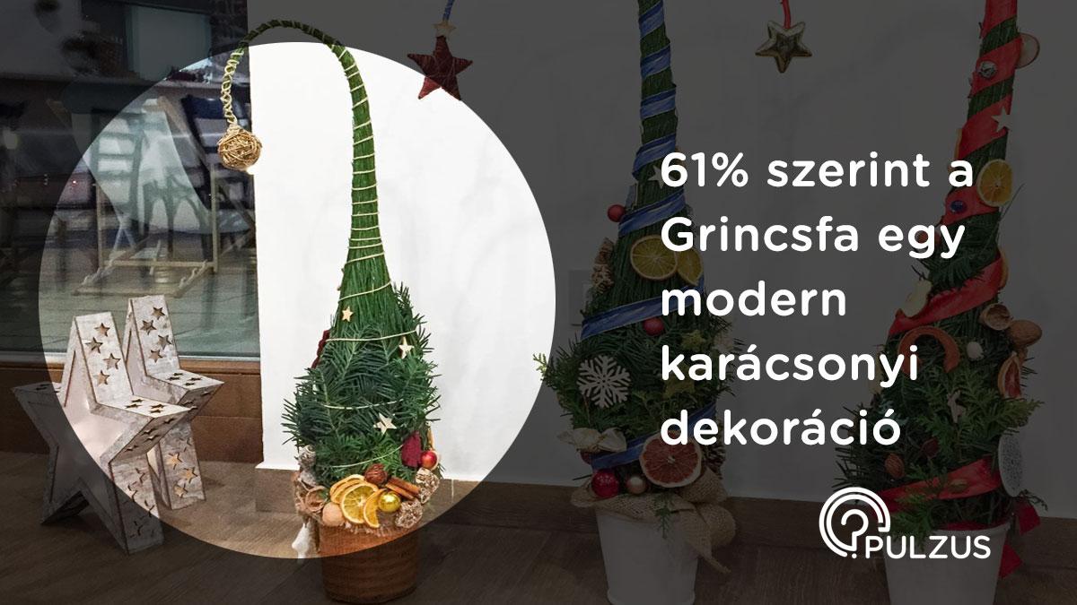A Grincsfa egy modern karácsonyi dekoráció - Pulzus kutatás