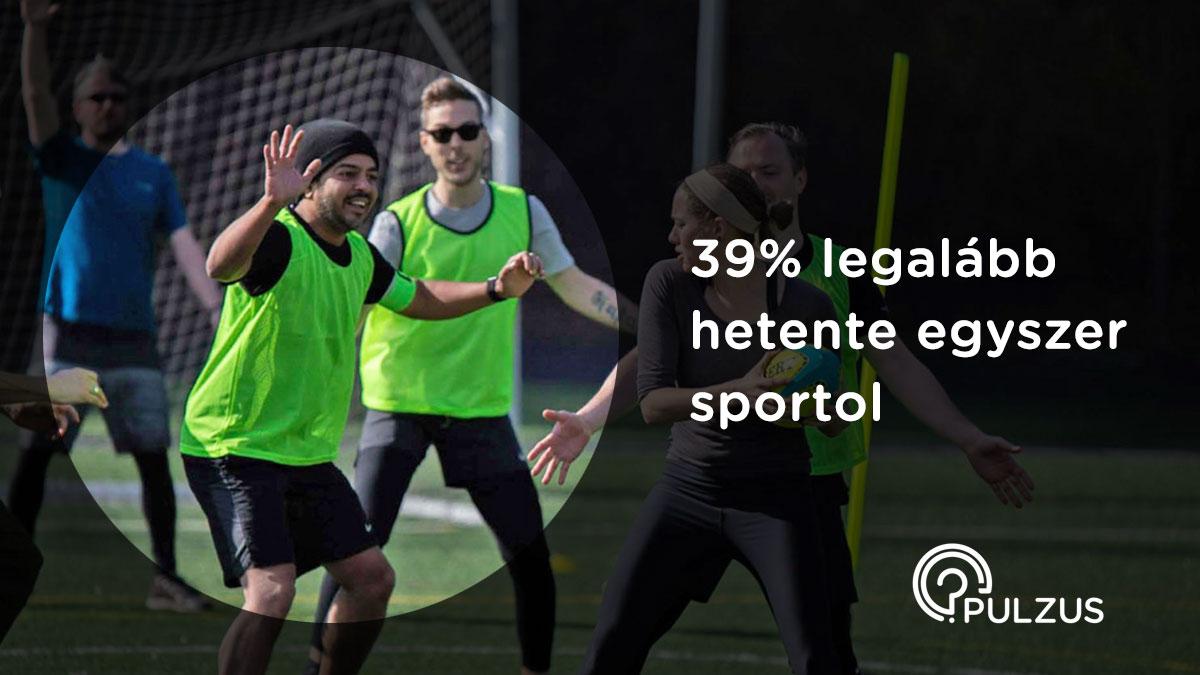 Sportolás hetente legalább egyszer - Pulzus kutatás