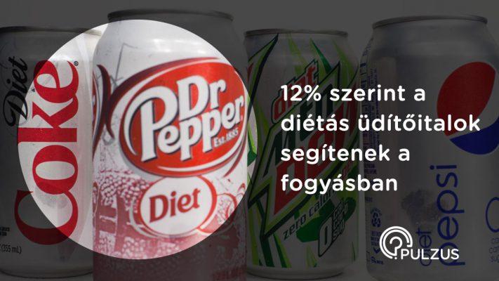 Diétás üditőitalok segítenek a fogyásban - Pulzus közvéleménykutatás