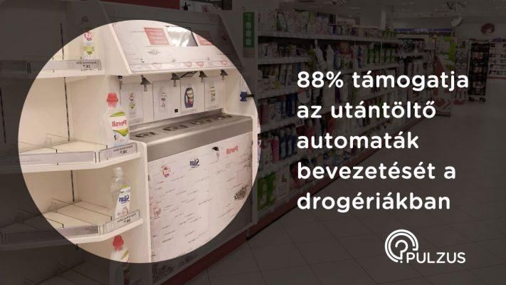 Utántöltő automaták bevezetése - Pulzus közvéleménykutatás