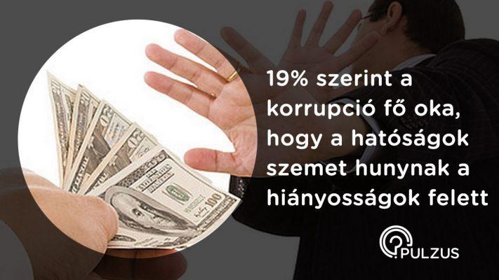 A korrupció fő oka - Pulzus közvéleménykutatás