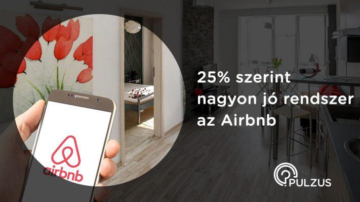 Nagyon jó rendszer az Airbnb - Pulzus közvéleménykutatás