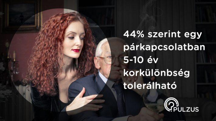 Tolerálható korkülönbség egy párkapcsolatban - Pulzus közvéleménykutatás