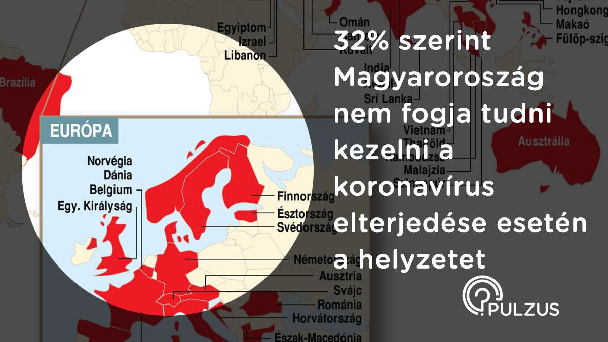 A koronavírus elterjedése Magyarországon - Pulzus közvéleménykutatás