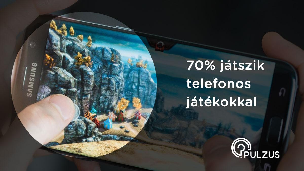 Telefonos játékokkal játszani - Pulzus közvéleménykutatás